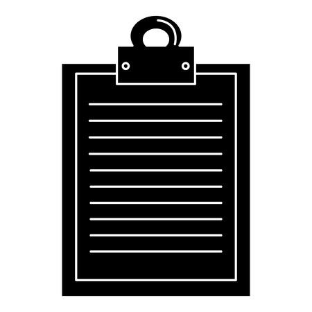 clipboard paper isolated icon vector illustration design Illustration