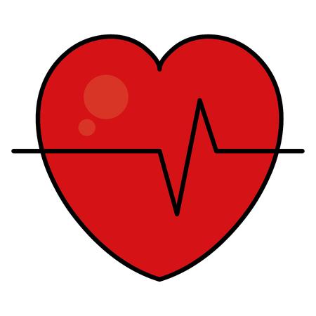 Coeur cardiologie icône isolé illustration vectorielle conception Banque d'images - 81671602