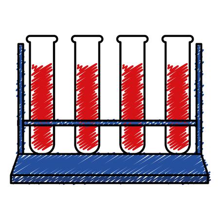 tube test with blood vector illustration design Illustration