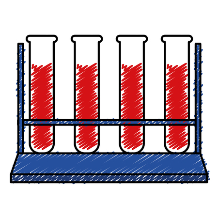tube test with blood vector illustration design Çizim
