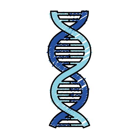 dna の分子分離のアイコン ベクトル イラスト デザイン  イラスト・ベクター素材