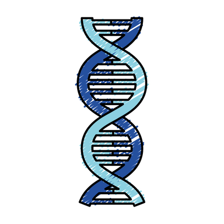 DNA-Molekül isoliert Symbol Vektor-Illustration, Design, Standard-Bild - 81671649
