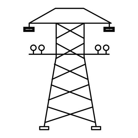 Diseño de ilustración de vector de icono aislado de torre de energía Foto de archivo - 81671646