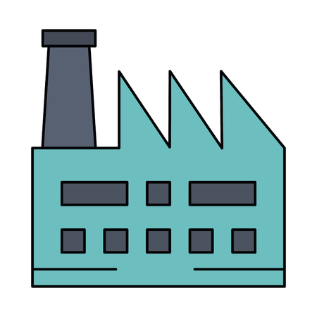 factory plant building icon vector illustration design Stock Vector - 81671650