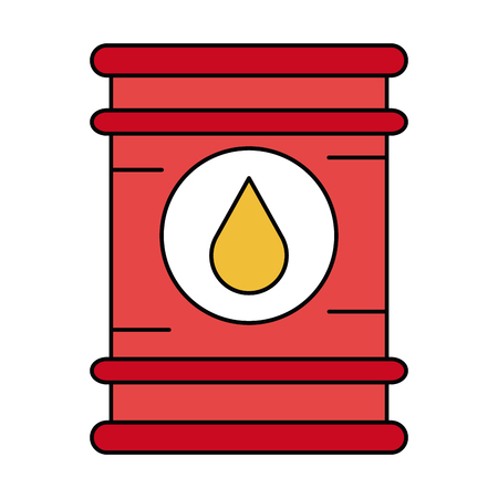 natural gas production: oil barrel isolated icon vector illustration design Illustration