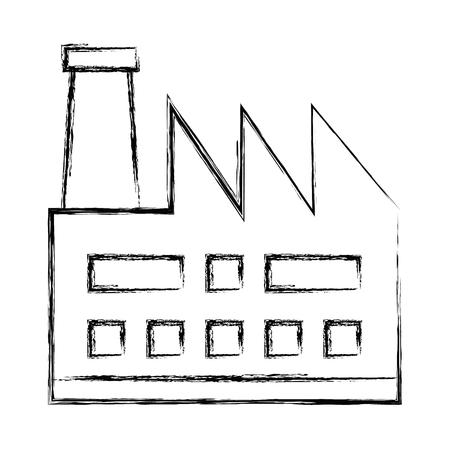 Usine d'usine bâtiment icône vector illustration design Banque d'images - 81672922