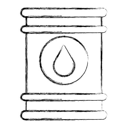 oil barrel isolated icon vector illustration design Çizim