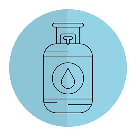 プロパン ガス タンク アイコン ベクトル イラスト デザイン 写真素材 - 81671871