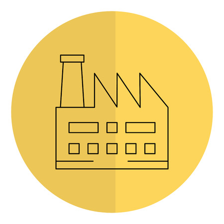 factory plant building icon vector illustration design Illustration