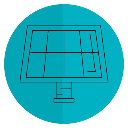 Diseño solar aislado del ejemplo del vector del icono del panel Foto de archivo - 81672939
