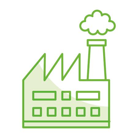 Fabrik Werk Gebäude Symbol Vektor-Illustration Design Standard-Bild - 81672755