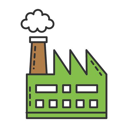 Usine d'usine bâtiment icône vector illustration design Banque d'images - 81672774