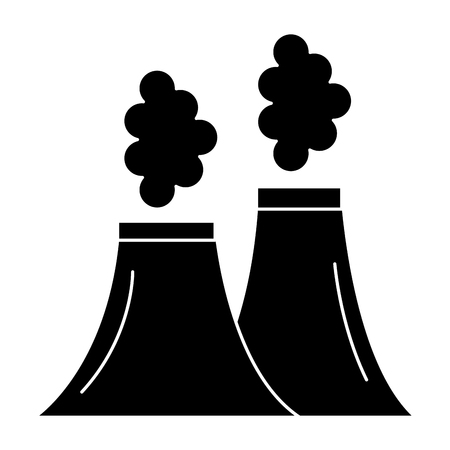 chimney factory isolated icon vector illustration design