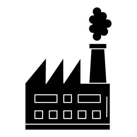 factory plant building icon vector illustration design Illusztráció