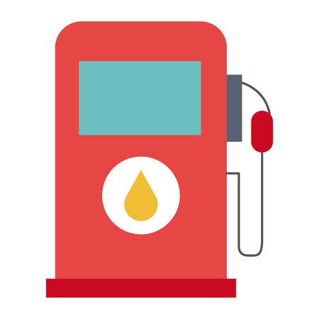 gas station pump icon vector illustration design Illustration