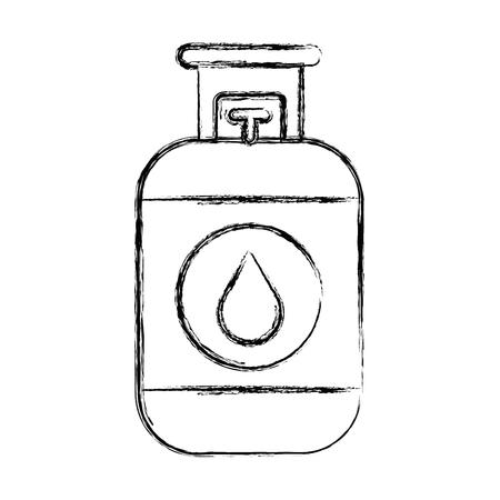 Propan-Gas-Tank-Symbol Vektor-Illustration Design Standard-Bild - 81672647