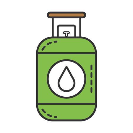 プロパン ガス タンク アイコン ベクトル イラスト デザイン  イラスト・ベクター素材