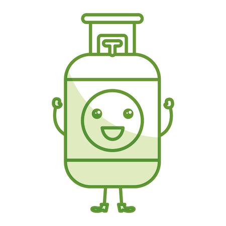 Prostaat gas tank pictogram vector illustratie ontwerp