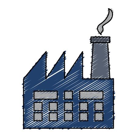 Usine d'usine bâtiment icône vector illustration design Banque d'images - 81672460