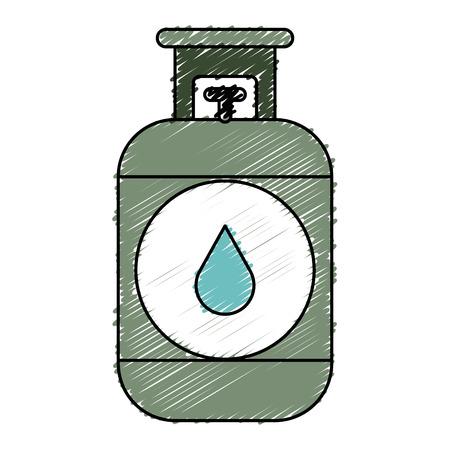 Propan-Gas-Tank-Symbol Vektor-Illustration Design Standard-Bild - 81672463