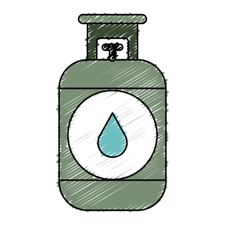 Propane gaz tank icon vector illustration design Banque d'images - 81672463