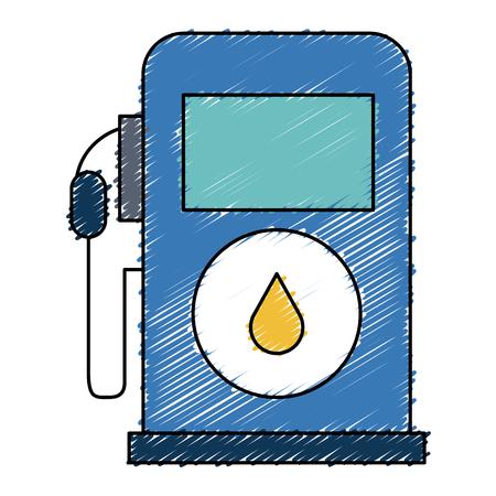gas station pump icon vector illustration design Illustration