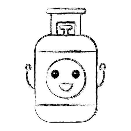 Propane gaz tank icon vector illustration design Banque d'images - 81672399