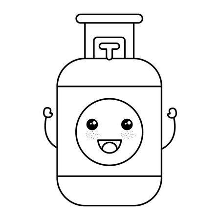 Propan-Gas-Tank-Symbol Vektor-Illustration Design Standard-Bild - 81671999