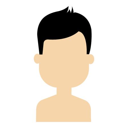 young man shirtless avatar character vector illustration design Stock Vector - 81673334