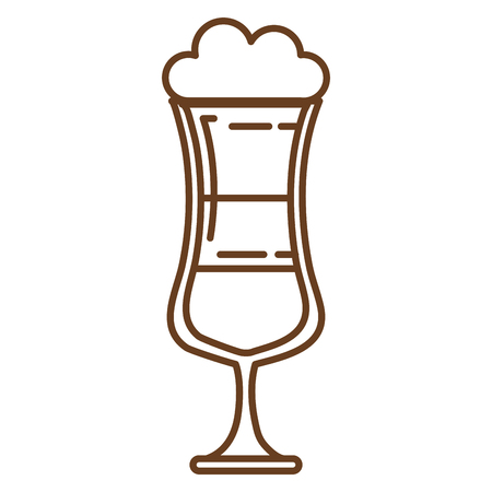 cold coffee cup isolated icon vector illustration design