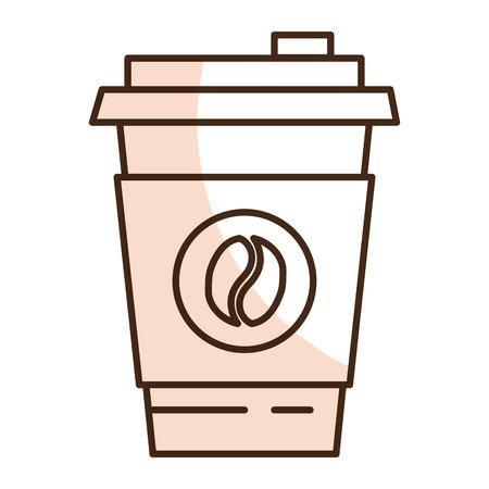 ice tea: coffee cup plastic isolated icon vector illustration design Illustration