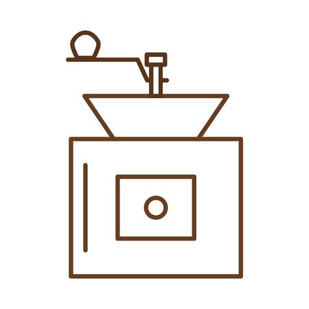 커피 분쇄기 기계 아이콘 벡터 일러스트 디자인