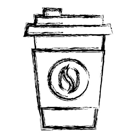 coffee cup plastic isolated icon vector illustration design Ilustração