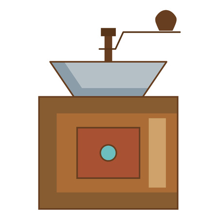 Coffee grinder machine icon vector illustration design Banco de Imagens - 81673433