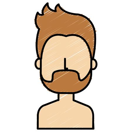 young man shirtless avatar character vector illustration design Stock Vector - 81673908