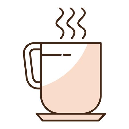 コーヒーのマグカップのアイコン ベクトル イラスト デザインを分離しました。  イラスト・ベクター素材