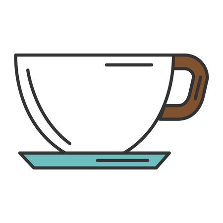 Koffie kop geïsoleerd pictogram vector illustratie ontwerp Stock Illustratie