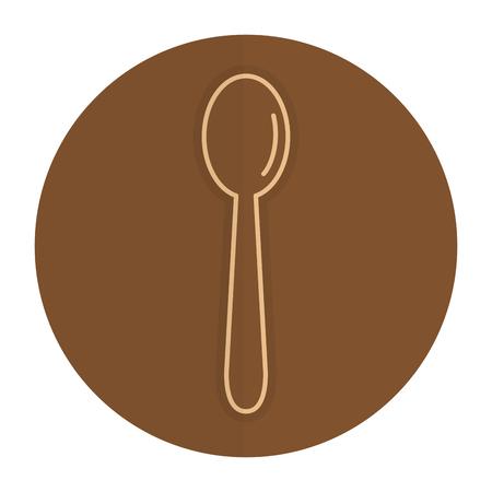 spoon cutlery isolated icon vector illustration design Ilustracja