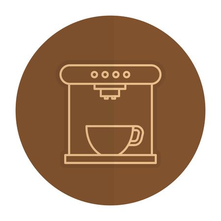 コーヒー メーカー マシン アイコン ベクトル イラスト デザイン