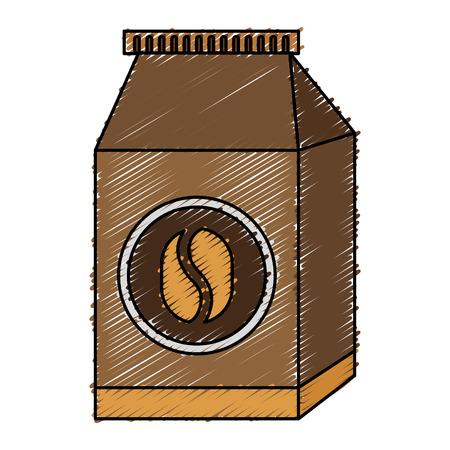 coffee bag product icon vector illustration design Illustration
