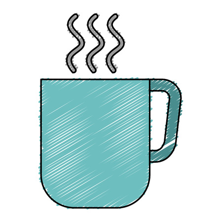 coffee mug isolated icon vector illustration design 向量圖像