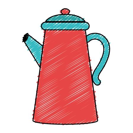 Keuken ketel geïsoleerd pictogram vector illustratie ontwerp