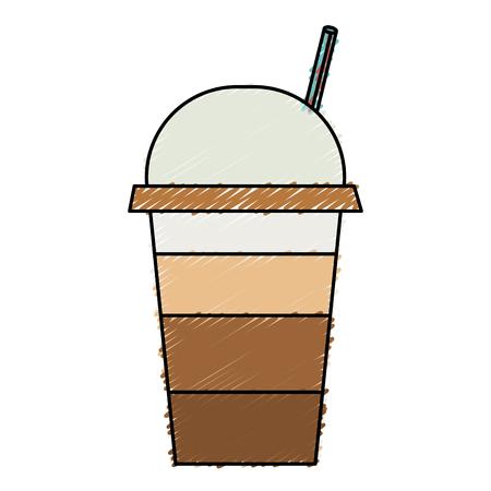 coffee cup plastic isolated icon vector illustration design Illustration