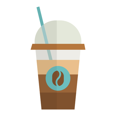 coffee cup plastic isolated icon vector illustration design Ilustrace