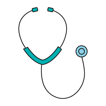 phonendoscope: stethoscope medical isolated icon vector illustration design Illustration