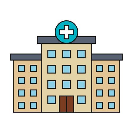 Construction de l'hôpital isolé icône vector illustration design Banque d'images - 81674295