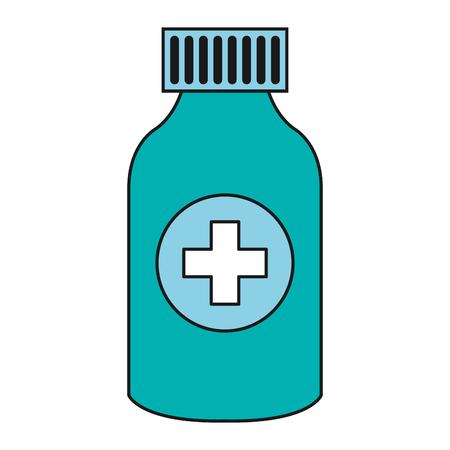bottle drugs isolated icon vector illustration design Banco de Imagens - 81674388