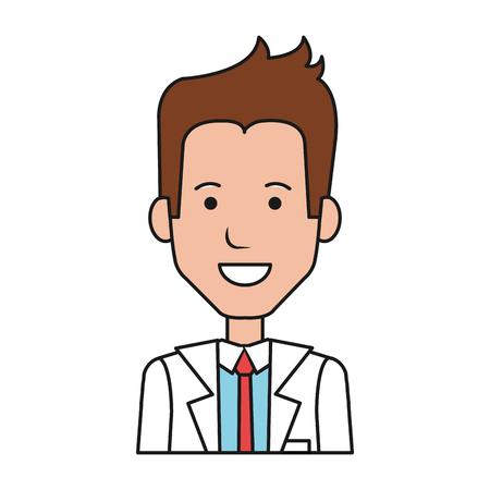 Homme d'affaires avatar caractère icône illustration vectorielle design Banque d'images - 81674308