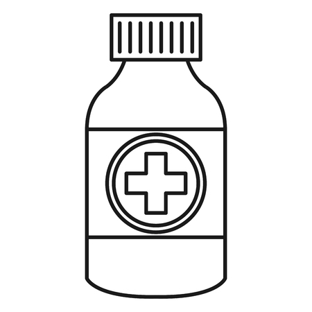 bottle drugs isolated icon vector illustration design Фото со стока - 81674356