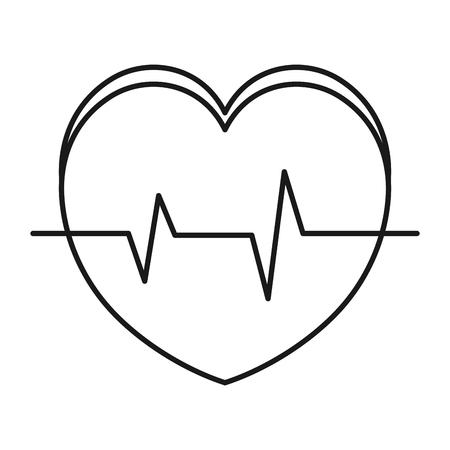 심장 심장학 절연 아이콘 벡터 일러스트 디자인 스톡 콘텐츠 - 81674644